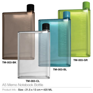 A5 Notebook Shape Bottles