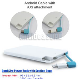 Card Size Power Bank with Suction Cups_(Best price in UAE)