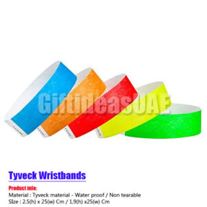 Tyvek wristbands (Paper type )in Dubai