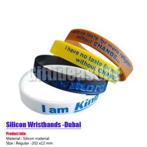 Silicone wristbands (Rubber bands )in Dubai